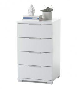 Noční stolek  KORON 4 - Noční stolky bílá - Sconto nábytek