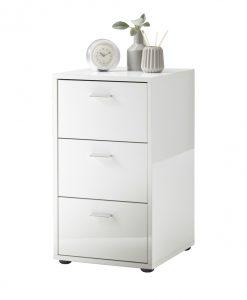 Noční stolek  VIRGINIA - Noční stolky bílá - Sconto nábytek