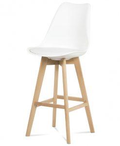 Barová židle  JULIETTE - Židle bílá - Sconto nábytek