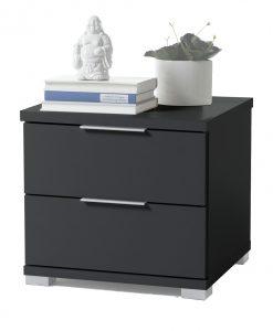 Noční stolek   KORON 2 - Noční stolky černá - Sconto nábytek
