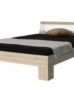 Postel  TEKARRA - Postele barva dřeva - Sconto nábytek