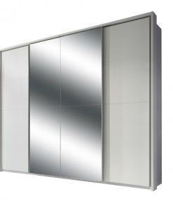 Šatní skříň s TV koutem  ENIMA - Šatní skříně bílá - Sconto nábytek
