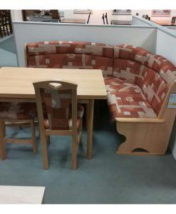 Rohová lavice   BERNAU - Židle hnědá - Sconto nábytek