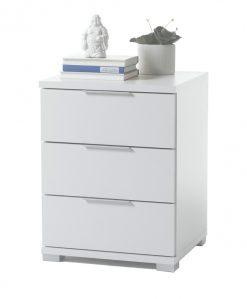 Noční stolek   KORON 3 - Noční stolky bílá - Sconto nábytek