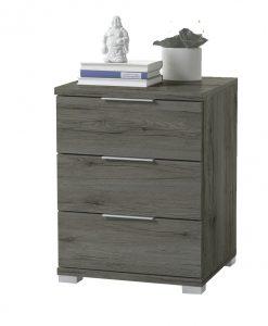 Noční stolek   KORON 3 - Noční stolky barva dřeva - Sconto nábytek