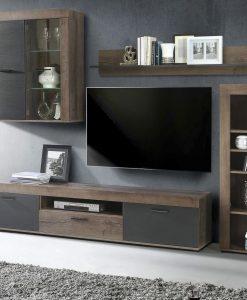 Obývací stěna   VALENTIN - Obývací stěny černá - Sconto nábytek