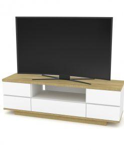 TV stolek  DORIAN 2 - TV stolky bílá - Sconto nábytek