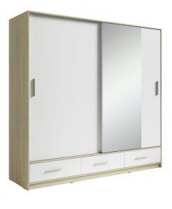 Šatní skříň   SAFI - Šatní skříně bílá - Sconto nábytek