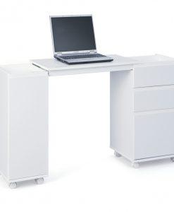 Výsuvný psací stůl  GIOCO - Stoly a stolky bílá - Sconto nábytek