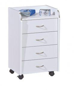 Kontejner  TRAVIS - Kontejnery a vozíky bílá - Sconto nábytek