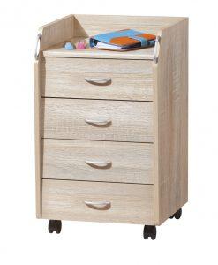 Kontejner  TRAVIS - Kontejnery a vozíky barva dřeva - Sconto nábytek