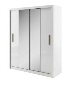 Šatní skříň   IDEA - Šatní skříně bílá - Sconto nábytek