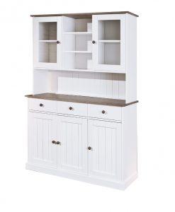 Vitrína  WESLEY - Vitríny bílá - Sconto nábytek