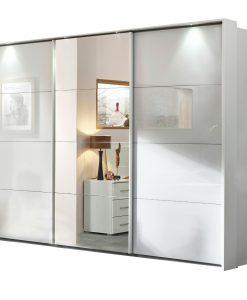 Šatní skříň  MAINLEUS - Šatní skříně šedá - Sconto nábytek