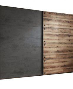 Šatní skříň  DENTON - Šatní skříně barva dřeva - Sconto nábytek