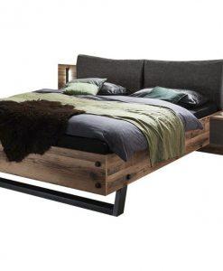 Postel s nočními stolky  DENTON - Postele barva dřeva - Sconto nábytek