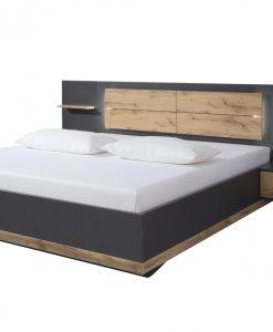 Postel s nočními stolky  NEWTON - Postele šedá - Sconto nábytek