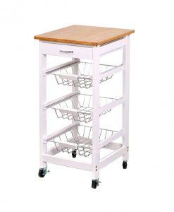 Kuchyňský vozík   KIMI II - Kontejnery a vozíky bílá - Sconto nábytek