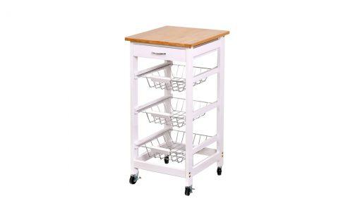 Kuchyňský vozík   KIMI II – Kontejnery a vozíky bílá
